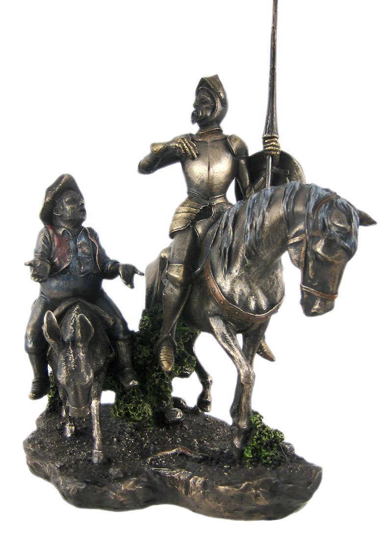 Amazon.com: Don Quixote & Sancho Panza Statue Sculpture: Artwork ...