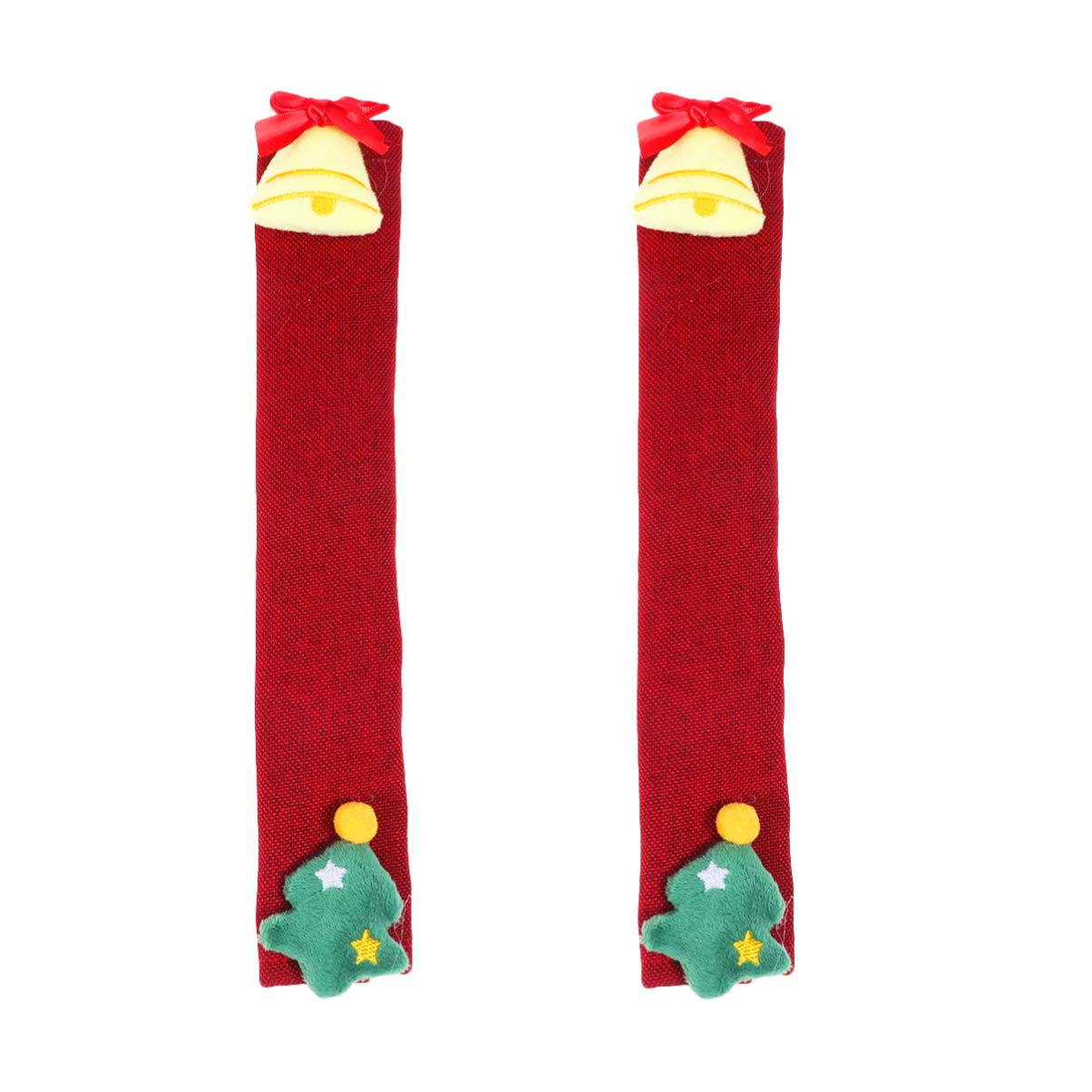 STOBOK 2Pcs Christmas Refrigerator Door Handle Covers Christmas Kitchen Appliance Handle Covers Decorations
