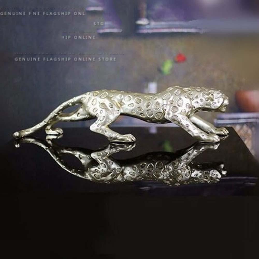 GONGXYI El Leopardo Creativo de la Resina Europea Hace a Mano los Regalos de Negocio del Regalo de la Apertura del pórtico de la decoración casera 51  9  15, 51  9  15