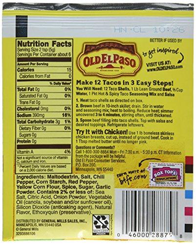 Amazon Old El Paso Hot Spicy Taco Seasoning Mix 1 Ounce