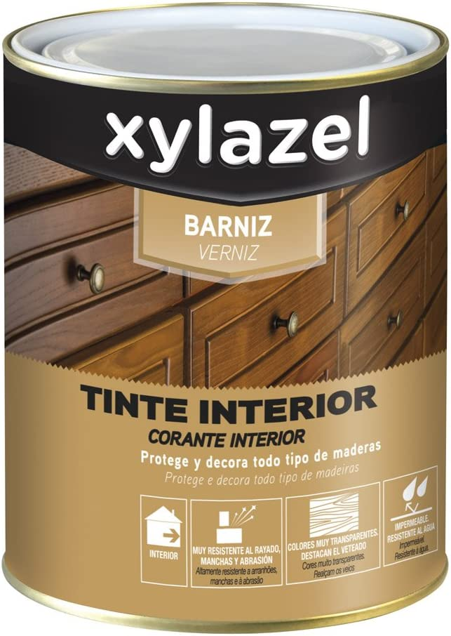Xylazel - Barniz tinte interior brillante 375ml roble