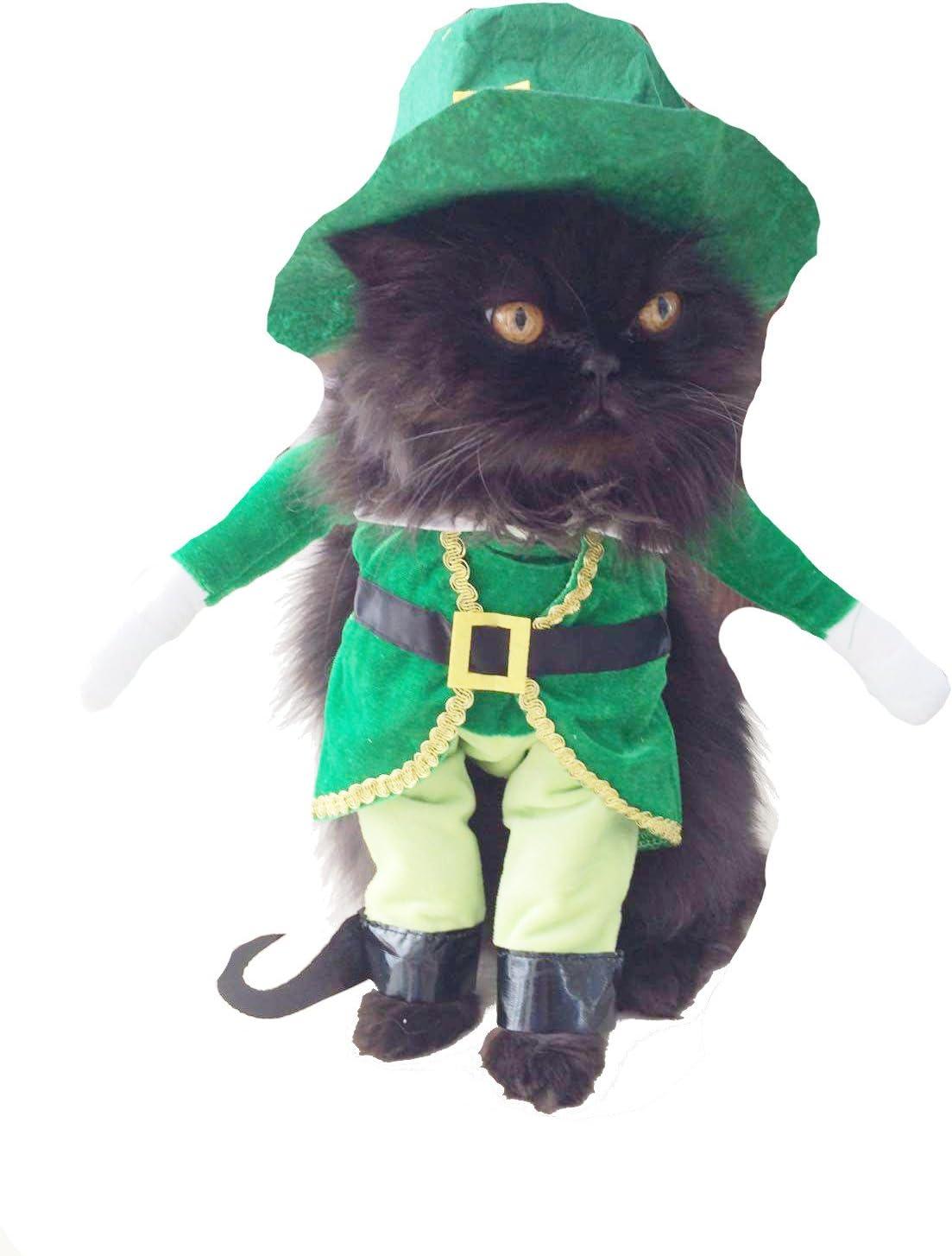 Disfraz adorable de duende verde irlandés para perros y gatos ...
