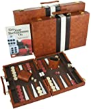 #1 Top Backgammon Set - Classic Board Game Case - Best Strategy & Tip Guide - Available in Small, Medium and Large Sizes By Get the Games Out