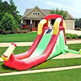 Best Inflatable Bouncers With Slides - Costzon Inflatable Water Slide, Climb and Slide Bouncer Review