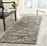 Safavieh Bohemian Collection BOH525K Hand-Knotted Grey and Multi Jute Runner (2'6'' x 8')