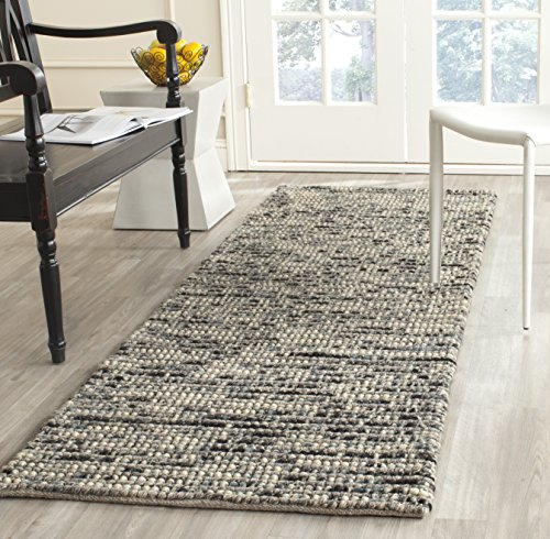 Safavieh Bohemian Collection BOH525K Hand-Knotted Grey and Multi Jute Runner (2'6'' x 8') by Safavieh