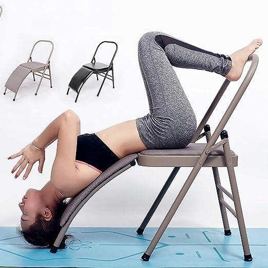 DWW Silla de Yoga Plegable tapizada para el hogar, Ejercicio ...