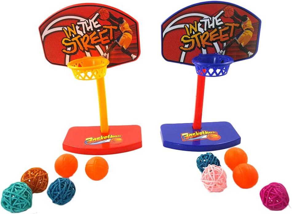 Vi.yo Mini Canasta de Baloncesto de Mesa de Juguete Ideal para Loros, guacamayos africanos, periquitos Grises, y cacatúas,1 pcs, Color al Azar