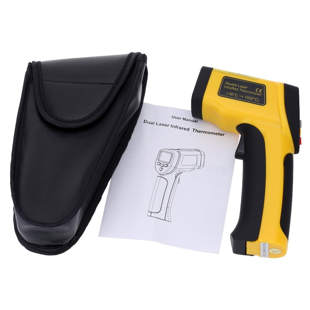 Amazon.com : High Precision Double Laser termometro digital infravermelho infrared thermometer Non-contact IR Temperature Tester Pyrometer : Everything Else