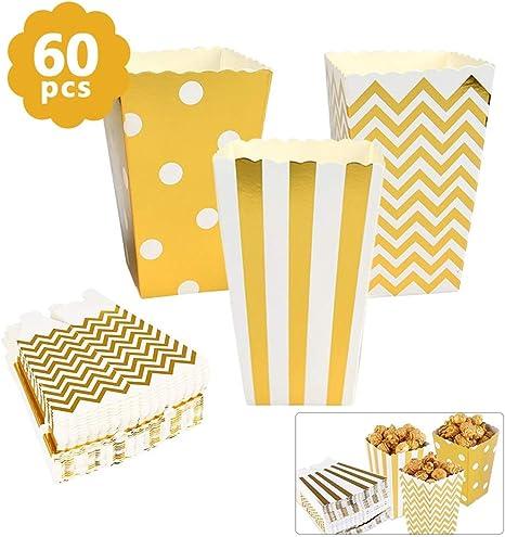 MVPower Popcorn Boxen 50 Pcs Party Candy Tüten Container Behälter Karton...