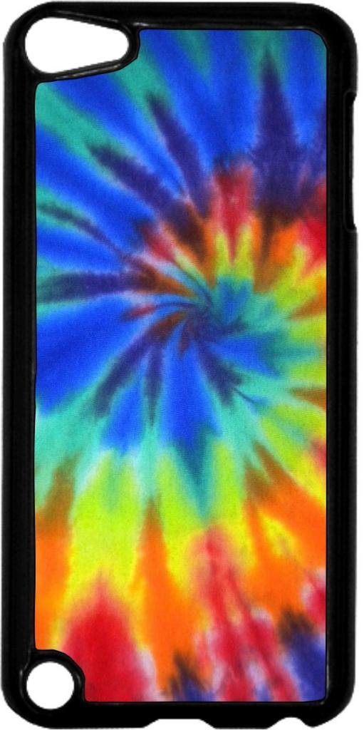 Tie-Dye- Case for the Apple Ipod 5th Generation-Hard Black Plastic