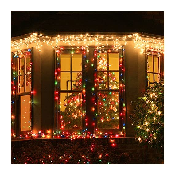 MZD8391 216 LED 36 Icicle Curtain String Light, Indoor Outdoor Decoration for Festival Wedding Party Living Room Bedroom Patio Garden, Warm White [ END TO END CONNECTABLE] - ❤ 5 SETS END TO END CONNECTABLE & PLUG-PLAY FAIRY STRING LIGHTS: Plug and play icicle string lights, effortless to set up. Easily extendable design, connect to up to 5 sets for different usage and decoration needs. Comes with an extra female plug at the end of each set for extension, can be connected to up to 10 sets of light strings at a single run to fulfill different length requirements. ❤ MULTI-SETTINGS & USER-FRIENDLY: Memorize the last light setting even when powered off. 8 different light settings to choose from 1. Combination 2. In waves 3. Sequential 4. Slo- glo 5. Chasing/Flash 6. Slow fade 7. Twinkle/Flash 8. Steady on ❤ WIDE APPLICATION: Our icicles curtain light is the perfect lighting decor in your daily life, suitable for indoor (without direct direct exposure to water). This blinking light strings can be used for weddings, festivals, Christmas, party decorations or simply use it around in the house. It will provide a twinkling sparkly effect, just like your very own personal galaxy. - patio, outdoor-lights, outdoor-decor - 61MwvkhixNL. SS570  -
