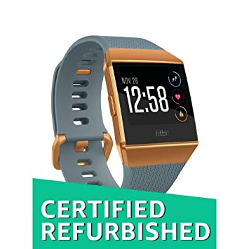 Amazon.com: Fitbit Ionic Smartwatch, Slate Blue/Burnt Orange ...