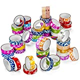 Peachy Keen Crafts 50 Rolls Glitter Washi Tape - Decorative Masking Tape Set for DIY, Scrapbooking, Gift Wrapping, Arts and Crafts Supplies