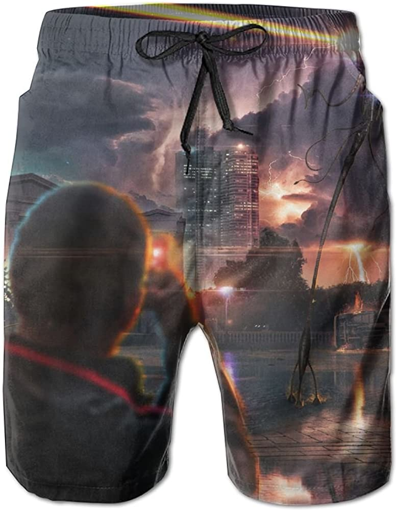 LUASD Mens Movies War of The Worlds Quick Drying Breathable Swim Trunks