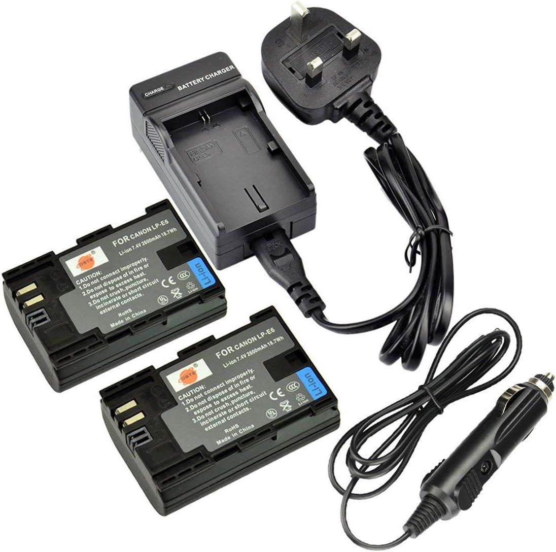 DSTE® UE Cargador DC88U + 2x LP-E6 Li-ion Batería para Canon EOS 5D Mark II, EOS 5D Mark III, EOS 5DS, EOS 6D, EOS 7D, EOS 60D, EOS 60Da, EOS 70D: Amazon.es: