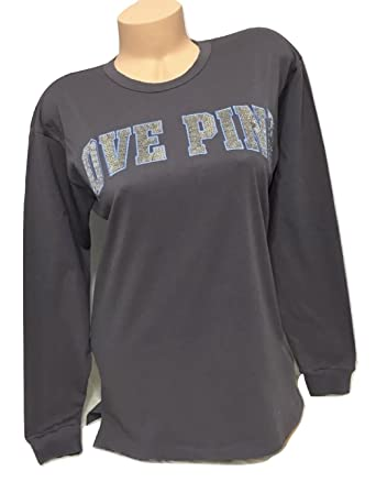 Victoria s Secret Pink Bling Open Back Campus Long-Sleeve Tee 124b263f4