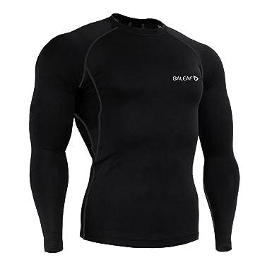 Amazon.com: Baleaf Men's Cool Dry Skin Fit Long Sleeve Compression ...