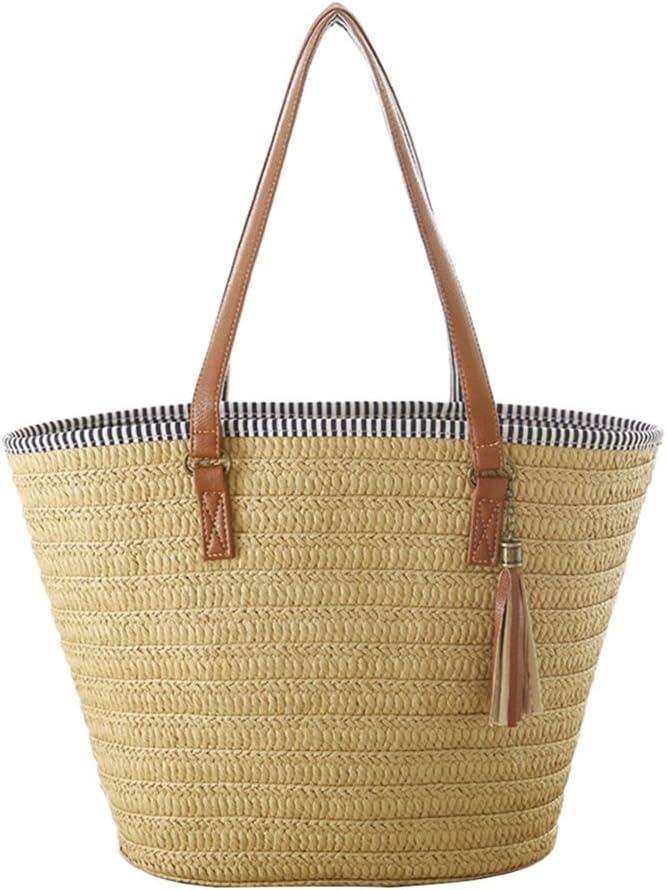Womens Leather Top Handle Shoulder Handbag Paper Flower Large Work Tote Bag