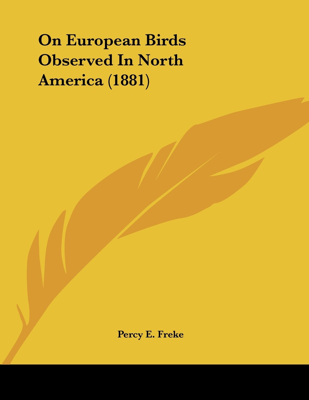Download On European Birds Observed In North America (1881) PDF