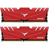 TEAMGROUP T-Force Dark Z DDR4 16GB Kit (2 x 8GB) 3200MHz ((PC4-25600) CL 16 288-Pin SDRAM Desktop Gaming Memory Module Ram - Red - TDZRD416G3200HC16CDC01