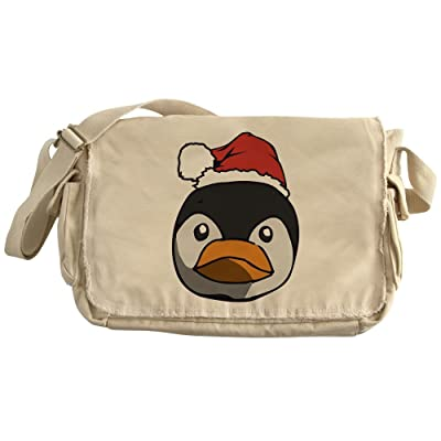 8eef3e63039d CafePress - Santa Penguin - Unique Messenger Bag