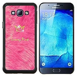LECELL--Funda protectora / Cubierta / Piel For Samsung Galaxy A8 A8000 -- Rey de lujo Corona de Bling del oro brillante --