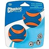 Chuckit! Ultra Squeaker Medium, 2 Pack, Blue & Orange