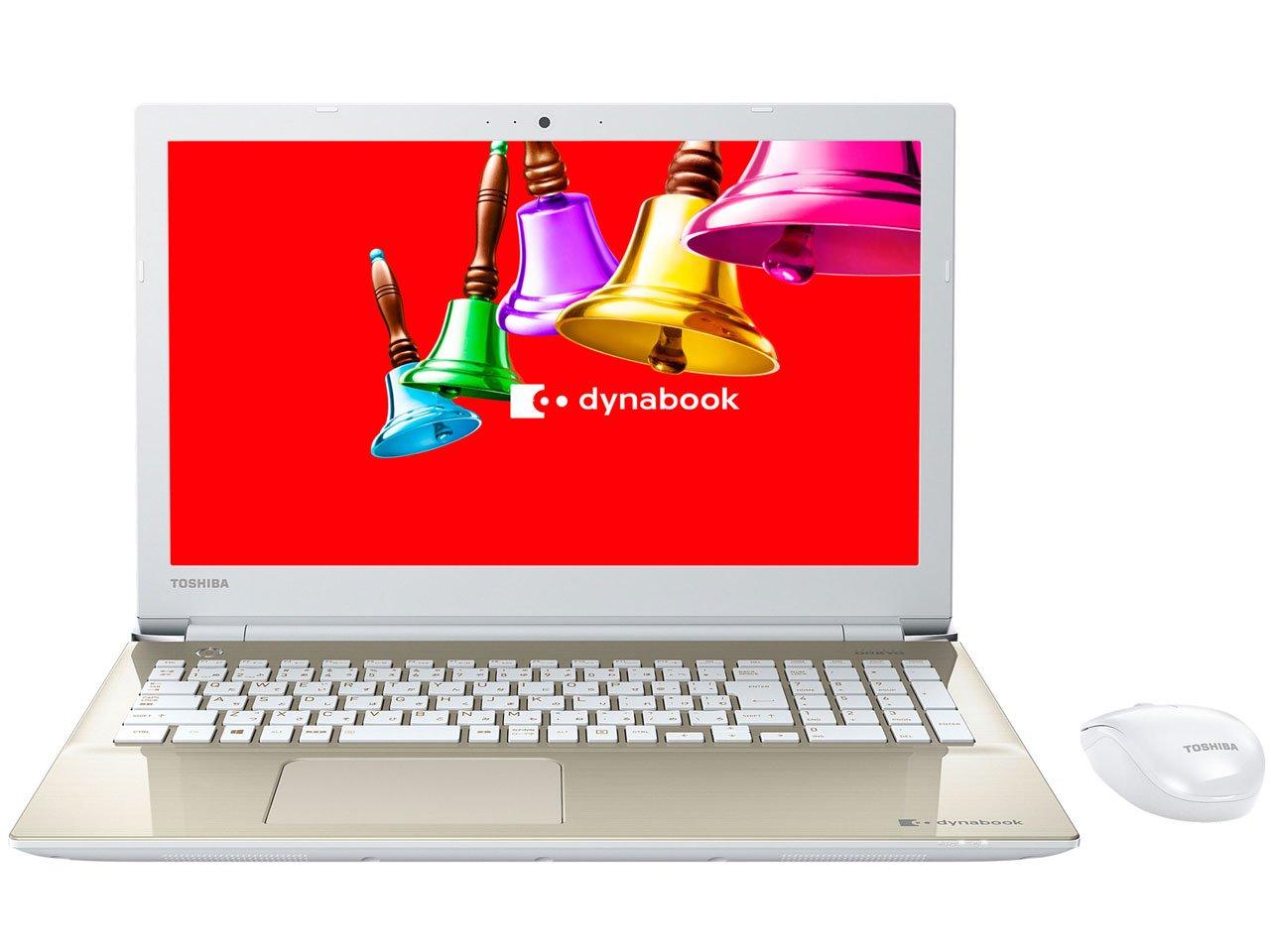 東芝 15.6型ノートパソコン dynabook T45 サテンゴールド(Office Home&Business Premium プラス Office 365 サービス) PT45BGP-SJA2   B01M9BBI5C