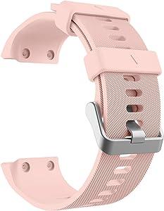 MoKo Garmin Forerunner 35 Watch Band, Soft Silicone Replacement Watch Band Sport Bracelet Strap 6pcs Screws 2pcs Screwdrivers Garmin Forerunner 35 GPS Running Smart Watch