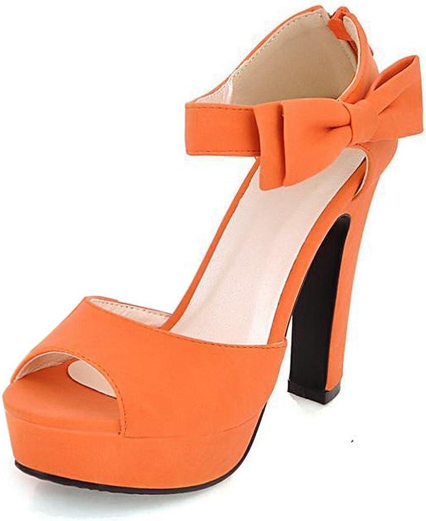 Mine Tom Mujer Chicas Sandalias Elegantes Sandalias De Tacón Alto Con Bowknot Peep Toe Zapatos