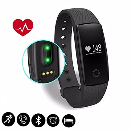 Fitness Tracker,SCODE ID107 Heart Rate Monitor - BT 4.0 Smart Bracelet Activity Fitness Tracker Sleep Monitor HR Wristband Waterproof IP65 Wireless ...