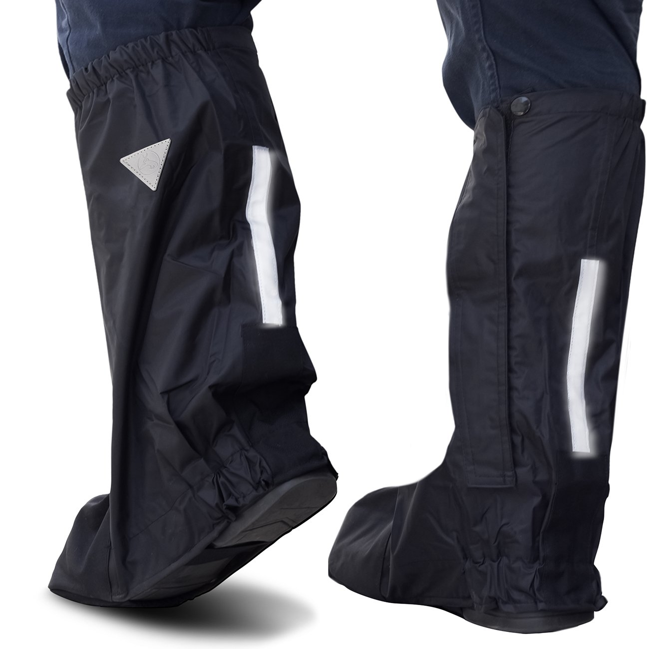 OxGord Motorcycle and Powersport Rain Boot Covers Large Slip Over Elastic