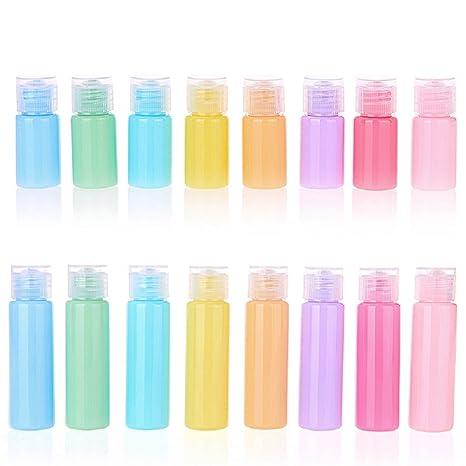 Botellas recargables vacías - Botella portátil Contenedor vial con tapa giratoria para maquillaje Cosméticos Artículos de