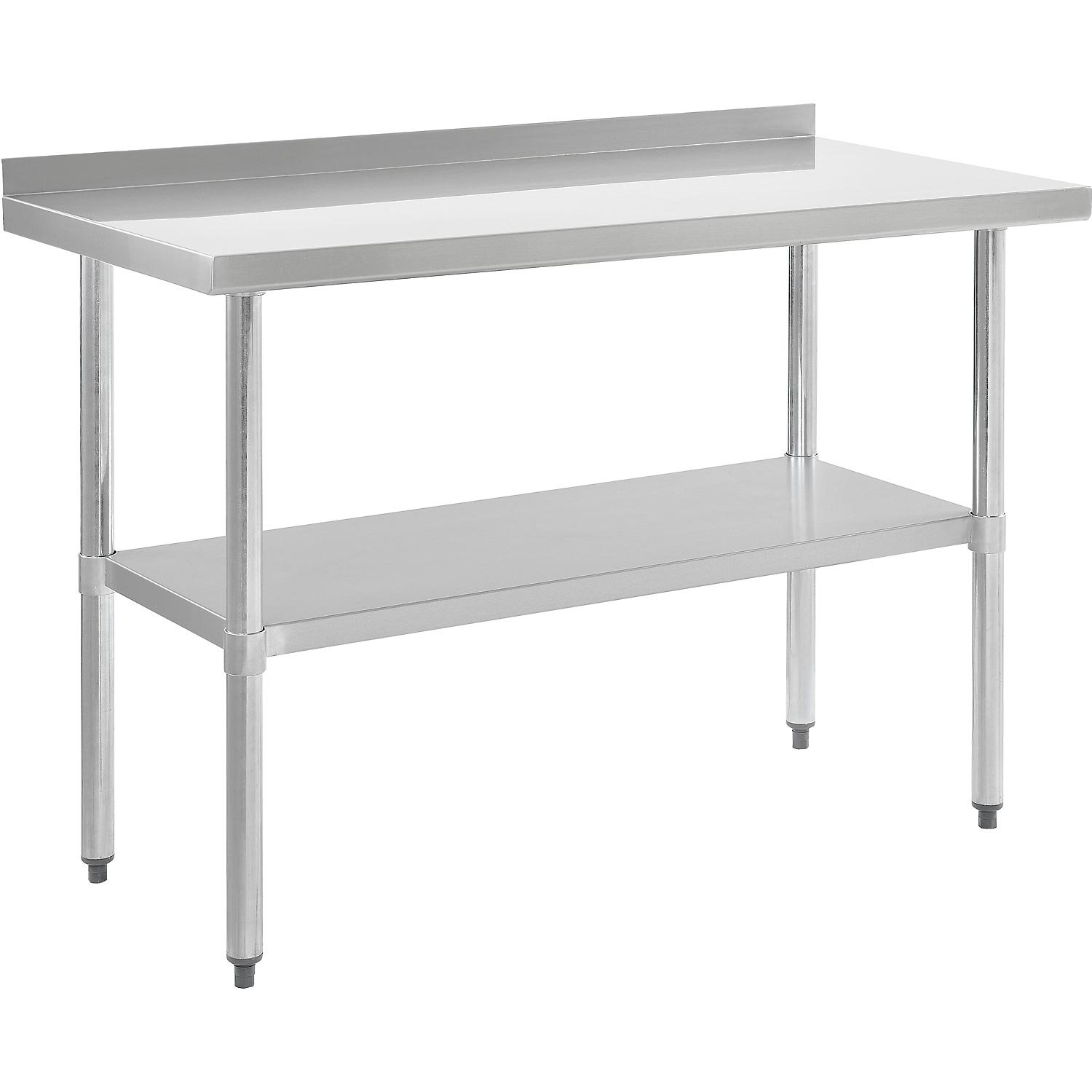 Nexel WB7230BSS Stainless Steel Worktable with Backsplash, 72''W x 30''D x 35''H