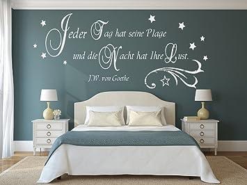 Wandtattoo fürs Schlafzimmer 68064-58x25 cm, ~ Spruch: Goethe Jeder ...