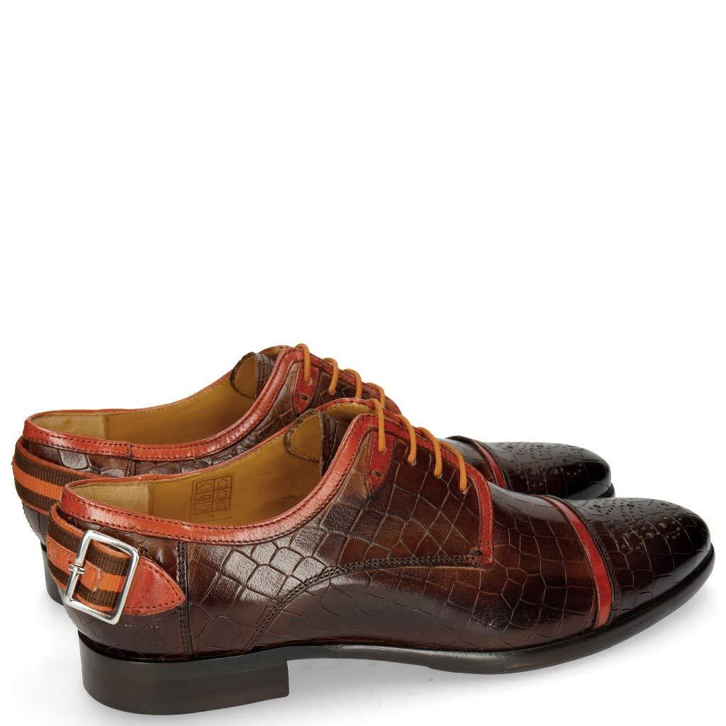 MELVIN & HAMILTON OF MH HAND MADE Schuhe OF HAMILTON CLASS Clint 4 Crock Mid Braun Deco Pieces-41 - a7184b