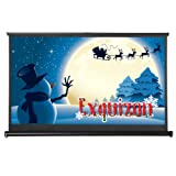 ExquizOn 50 Inch 16:9 Portable Pull-Out Table-Top Movie Screen Outdoor Indoor Home Cinema Projector Screen, Matte White Fabric