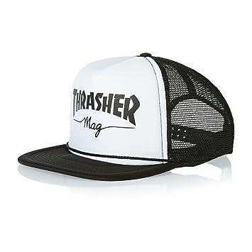 696124bad8e Thrasher Men s Mesh Trucker Cap - Black white  Amazon.in  Beauty