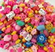Incredible art Mixed lot Cartoon and animal Resin Flatback cute Cabochons Decoden Pieces,20pc per packet.