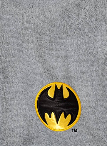 (DC Comics Batman Embroidered Bath Towel Gray Cotton)