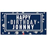 9e110c09843 NFL Football Party Blue and White Personalized Birthday Banner Decoration