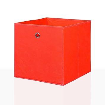 Mixibaby 4er Set Faltbox In Der Farbe Rot 32 X 32 Cm Faltkiste Regalkorb Regalbox Kinderbox Einschubkorb Aufbewahrungsbox Stoffbox