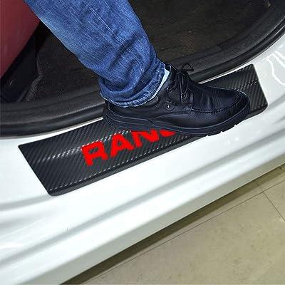 SENYAZON Ranger Decal Sticker Carbon Fibre Vinyl Reflective Car Door Sill Decoration Scuff Plate for Ford Ranger (red): Automotive [5Bkhe0413451]