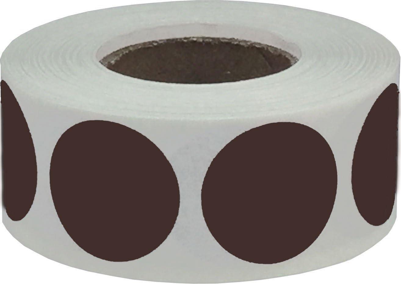 Marroni Adesivi a Cerchio 19 mm 3//4 Pollice Etichette a Punti 500 Pacchetto