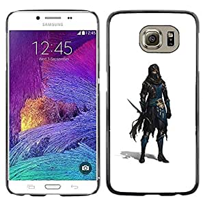 Colorful Printed Hard Protective Back Case Cover Shell Skin for Samsung Galaxy S6 / SM-G920 / SM-G920A / SM-G920T / SM-G920F / SM-G920I ( Swordsman White Thief Character Game )