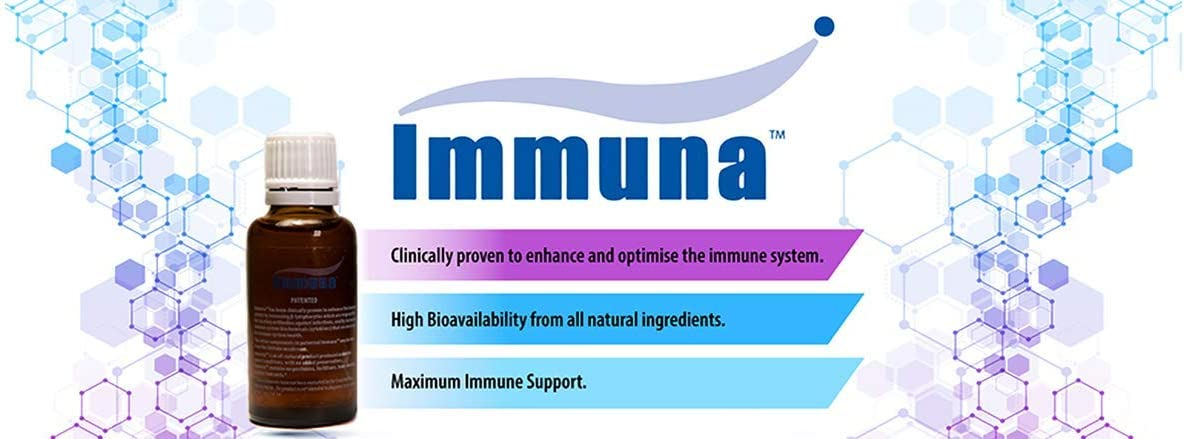 IMMUNA Maximum Potency Beta Glucan 1,3D. Patented and Gluten Free.