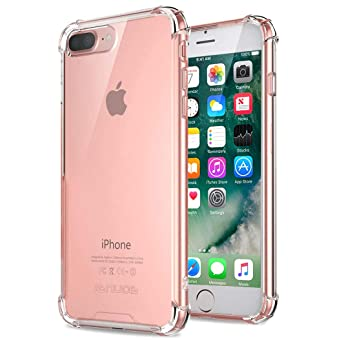 size 40 b550f 06aab iPhone 8 Plus Case, iPhone 7 Plus Case, Jenuos Clear Soft TPU Shockproof  Bumper Phone Case Cover for Apple iPhone 7 / 8 Plus 5.5