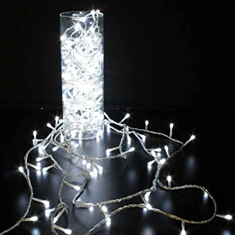 Guirnalda 200 Luces Led Blancas 30m Exterior 220V 24V Navidad Fiesta Boda