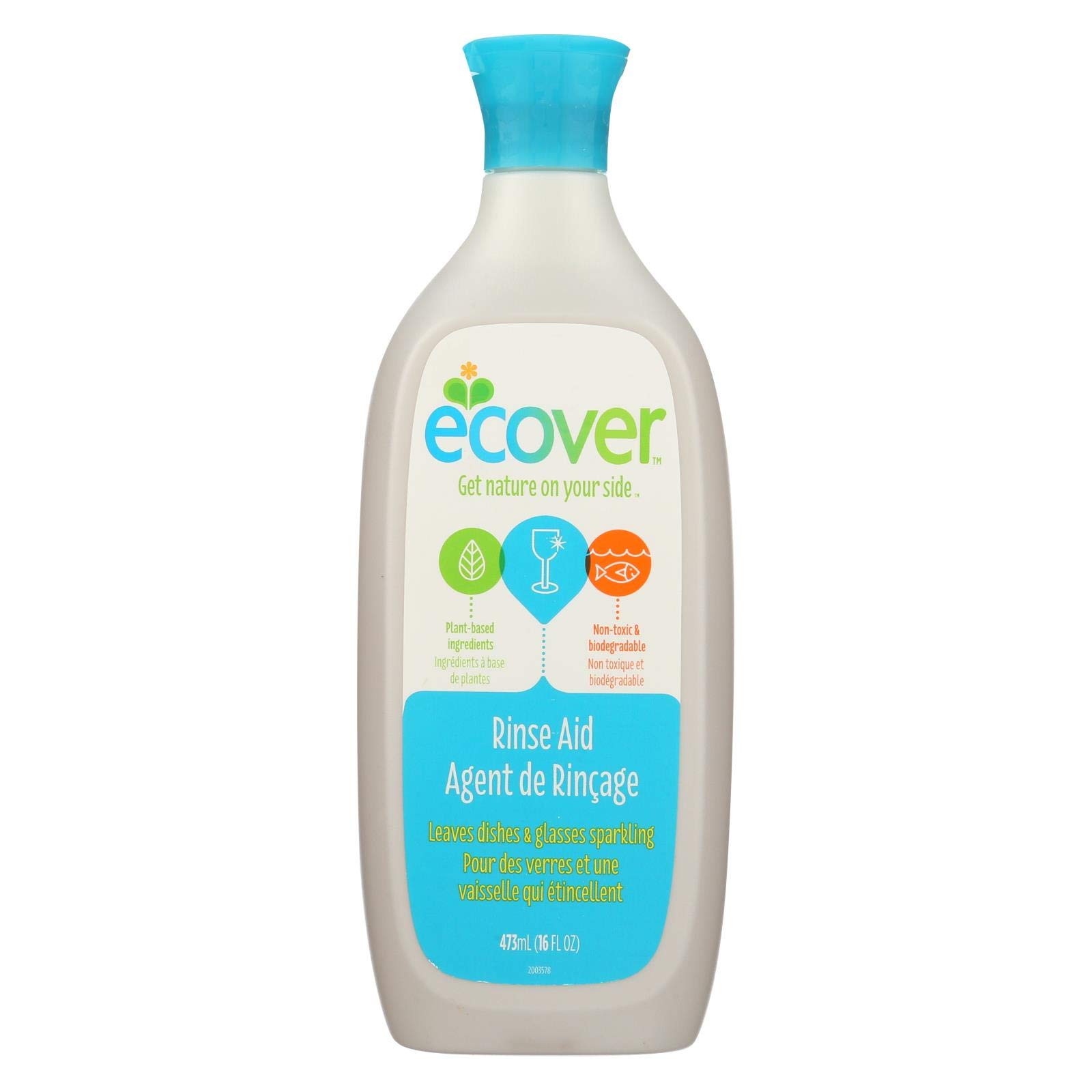Ecover Ecological Rinse Aid For Dishwashers 16 oz. (Pack of 12) ( Value Bulk Multi-pack) by Ecover (Image #1)